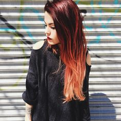 Luanna Perez. adore her red ombre  hair!!!