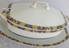 Tirschenreuth Bavaria China La Casa Quintana Havana Cuba 3 Pc Serving Dish Bowl #Tirschenreuth