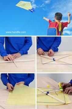 Puedes diseñar tu propia cometa y hacer que los niños participen en un proyecto divertido que hará que su imaginación vuele a lo más alto.
