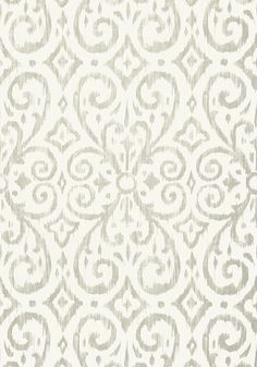 Patara Ikat #wallpaper in #grey from the Caravan collection. #Thibaut