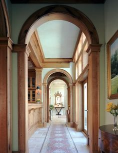 Oh my, love all the millwork...would choose a warmer color for the walls though...