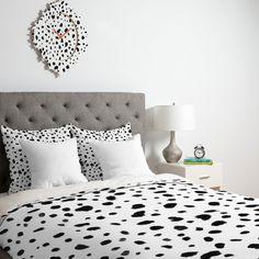 Rebecca Allen Miss Monroes Dalmatian Duvet Cover | DENY Designs Home Accessories