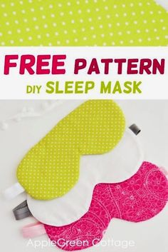Most up-to-date Pic diy Sewing projects Tips Sew your own diy sleep mask using this free sewing pattern and make it easier to relax! Easy Sewing Projects, Sewing Projects For Beginners, Sewing Hacks, Sewing Tutorials, Sewing Crafts, Sewing Tips, Diy Gifts Sewing, Sew Gifts, Sewing Machine Projects