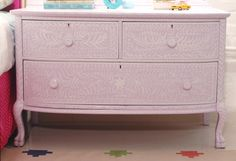 DIY Stencils for Dressers | ... all I can say about this diy inlay dresser via little green notebook