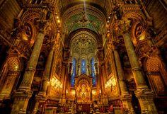 Basilique Notre Dame de Fourvre, Lyon, France