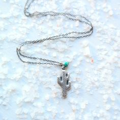 Cactus Charm Necklace by gypsy soul jewellery