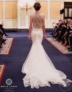 Back & train wedding gown