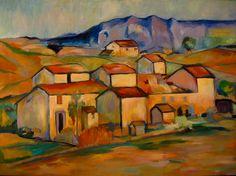 Study: Cezanne Landscape, 2006-zatvorena struktura -duže i deblje linije -kubizam -''svi se predmeti u prirodi mogu svoditi na geometrijska tijela'' -nije tonska slika -koloristička modulacija -supreotnost, tople i hladne boje istog intenziteta