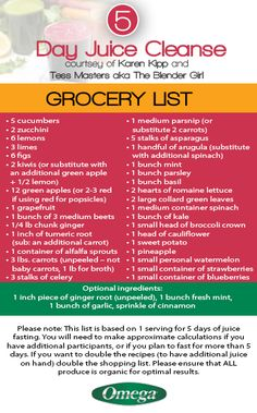 Diy blueprint juice cleanse recipes grocery list tips tricks to start your with the 5 day juice cleanse you will need your grocery list malvernweather Images