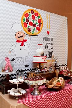 Pizza Themed Birthday Party