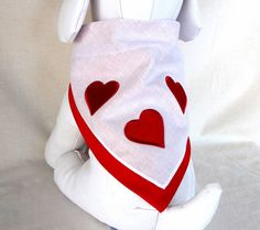 Dog Bandana Scarf Valentine Bandanna for by ChicCanineCouture