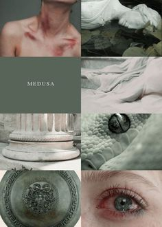 """A monster, an ice cold heart, an abomination."" He stared right … Greece Mythology, Greek And Roman Mythology, Greek Gods And Goddesses, Medusa Greek Mythology, Medusa Art, Greek Pantheon, Greek Art, Aesthetic Collage, Vanitas"
