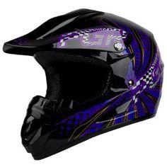 $50 Amazon.com: PGR X25 Youth VORTEX Motocross MX BMX Dirt Bike Dune Buggy Enduro ATV Quad Off Road DOT Approved Helmet (Youth S, Black/Blue): Automotive