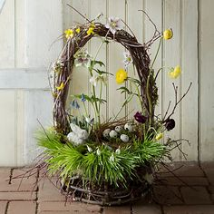 Woodland Coast Basket in Easter Build Your Centerpiece at Terrain