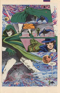 Stephen Bissette Swamp Thing, Spectre and Phantom Stranger Dc Comics, Dr Fate, Comic Art, Comic Books, The Spectre, Justice League Dark, Halloween News, Dc Legends Of Tomorrow, Magic Book