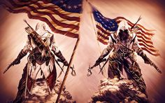 Assassin's Creed III officially announced, set in American Revolution Assassin's Creed 3, Assassin's Creed Wallpaper, Connor Kenway, American Revolution, Background Images, How To Look Pretty, Wallpaper Backgrounds, Cover, Artwork
