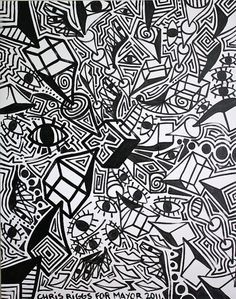 cubism black and white | ORIGINAL black and white abstract contemporary minimalism fine art ...