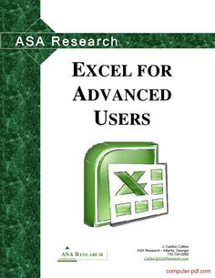 Download free Excel 2010 for advanced users course training (PDF file 175 pages)