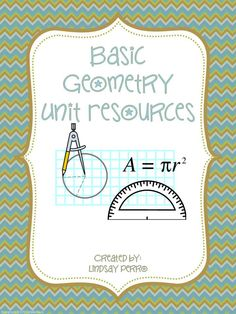 This bundle includes 26 instructional resources for basic geometry skills. Answer keys for every item are included.