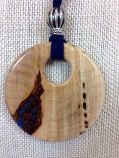 Maple burl pendant necklace