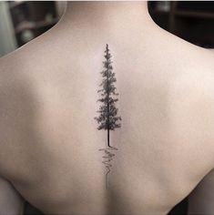 Minimalistic tattoo, tree