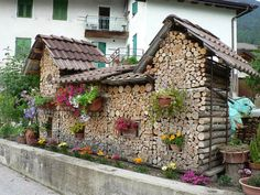 Creative Wood Logs Stack #House, #Logs, #Stack, #Wood