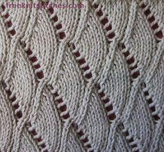 Shells knitting stitches