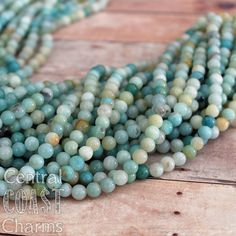 Amazonite Beads  6mm  16 inch strand  approx by CentralCoastCharms, $5.00