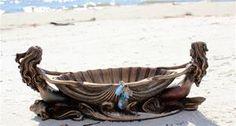 Mermaid Jewelry Box Sculpture Types Of Mermaids, Mermaids And Mermen, Mermaid Cove, Mermaid Fairy, Aquamarine Necklace, Amethyst, Mermaid School, Aquamarine Wedding, Jewelry Box
