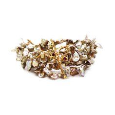 Pearl tree of life bracelet