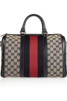477cf71467ac Gucci vintage Web monogram canvas duffel bag. I want. Gucci Purses, Gucci  Handbags