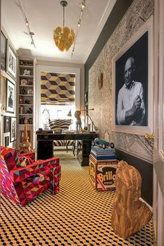 18 of the Most Beautiful Home Offices in AD | Architectural Digest Architecture Restaurant, Interior Architecture, Eclectic Design, Eclectic Decor, Eclectic Modern, Ad Architectural Digest, Maximalist Interior, New York Homes, Decoration Design