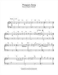 Znalezione obrazy dla zapytania Pelagia's song  notes