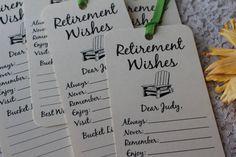 Set of 8 Retirement Wishing Tree Tags / by FreeSpiritCrafting