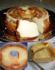 Ingredientes: 1 lata de leite condensado a mesma medida de leite de vaca a mesma medida de leite de coco a mesma medida de farinha de trigo 1/2 medida de açúcar 3 ovos inteiros 3 colheres (sopa) de margarina Modo de Preparo: Bata todos os... Delicious Cookie Recipes, Yummy Cookies, Cake Recipes, Cheesecakes, Whole Food Recipes, Cooking Recipes, Cooking Light, Food 52, Holiday Baking