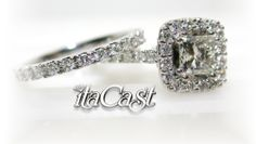 princess cut diamond set