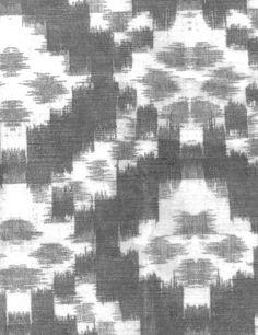 Sketch Charcoal Fabric  A subtle ikat design printed on velvet with line detail.