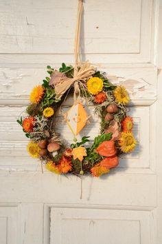 Türkranz Herbst  Herbstdekoration Herbstkranz von Missbellflower auf DaWanda.com
