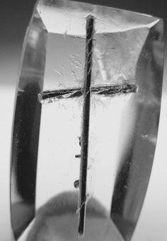 Tourmaline Cross in Quartz