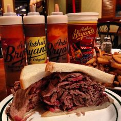 Arthur Bryant's BBQ in Kansas City, MO. My favorite! It is the best!