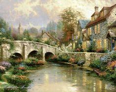 Cobblestone Brook ~ Thomas Kinkade