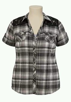 Bf plaid shirt size 2 maurcies.com