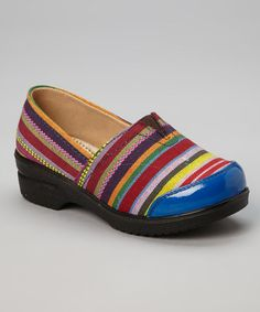 Take a look at this Blue Stripe Danny Clog by COCO Jumbo on #zulily today!