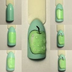 They allow to display a manicure impeccable during several weeks and to play with the form and the length of our nails. Manicure, Diy Nails, Cute Nails, Pretty Nails, Food Nail Art, Fruit Nail Art, Modern Nails, Painted Nail Art, Short Nails Art