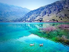 Lake Kournas in Crete