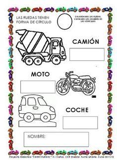 Resultado de imagen de proyecto los transportes educacion infantil