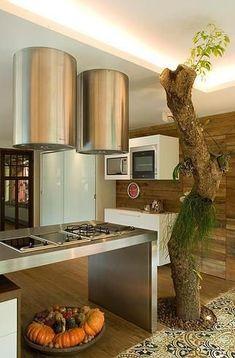b00b20fd3 Decoração Cozinha planejada Cozinha com Ilha abreuborges 63882