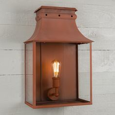 Bath Wall Lantern Large Italian Terracotta by A Place In The Garden Outdoor Wall Lantern, Outdoor Walls, Outdoor Lighting, Corten Steel, Candle Sconces, Terracotta, Lanterns, Garden Design, Wall Lights