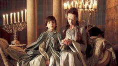 Lino Facioli as Robin Arryn and Kate Dickie as Lysa Tully Arryn in Game of Thrones