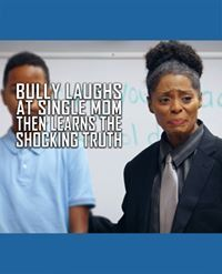 Bully Laughs At Single Mom, Then Learns Shocking Truth Bully Laughs At Single Mo. - Bully Laughs At Single Mom, Then Learns Shocking Truth Bully Laughs At Single Mo… Bully Laughs A - Co Parenting, Single Parenting, Parenting Quotes, Blended Family Photos, Big Family Photos, Child Support Quotes, Single Parent Families, Parents Be Like, Single Dads